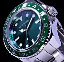Excellanc Herren Armband Männer Uhr Grün Silber Farben  RAL2