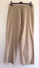 Lovely Beige Casual Cotton Elasticated Waist Trousers from Originals - Size 14