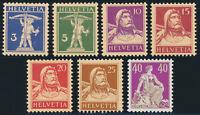 SCHWEIZ 1932, ex MiNr. 199-208 y, z, tadellos postfrisch, gepr. Abt, Mi. 500,-