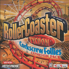 Roller Coaster Tycoon CORKSCREW FOLLIES Vintage RollerCoaster Expansion NEW