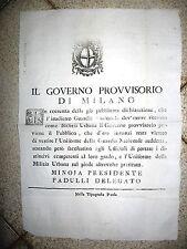 W998-OCCUPAZIONE AUSTRO-RUSSA-MILANO GOV.PROVV.SULLA GUARDIA NAZIONALE