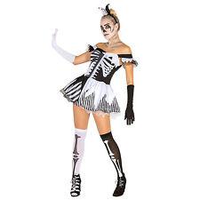 Black White Skeleton Kostüm Halloween Frauenkostüm Karneval Fasnacht Damen