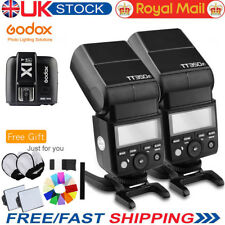 2* Godox Tt350f 2.4g TTL HSS Camera Flash Speedlite & X1t-f Trigger for Fujifilm