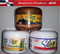 3 UNITS 1 SILICON MIX + 1 BAMBU + 1 ARGAN OIL 8 OZ HAIR MASK GROWTH KERATINE
