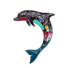 Enamel Alloy Ocean Dolphin Brooch Pin For Women Fashion Suit Decor Jewelry Gifts
