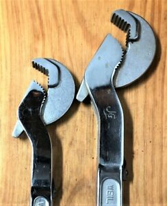 """Weil Adjustamatic Adjustable Wrench Set - 10"""" and 12"""" Size"""