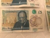 £5 AA01 & 10 SUPER RARE ERA POLYMER NOTES LOOK AND SEE 👀