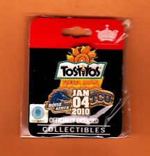 2010 FIESTA BOWL UNSOLD GAME SITE PIN BOISE STATE BRONCOS TCU HORNED FROGS MIP