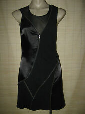 NEW Sexy NIGHTCLUB clubbing mesh satin acrylic jersey zipper pencil DRESS sz 10