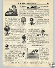 1926 PAPER AD Boyce Moto Meter Store Garage Display Window Sign Aristocrat Wing