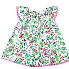 Tommy Bahama Kids Baby Girl Dress Sz 3-6 Mo Pink Green Floral Sleeveless