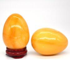 Yellow Jade Egg Sphere Natural Gemstone Healing Crystal Specimen Rock Stone