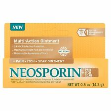 New Neosporin + Pain Itch Scar Multi-Action Ointment 0.5 OZ.
