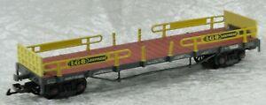 Eigenbau Autotransportwagen gelb, passend zur LGB