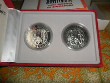 1991 Singapore Civil Defence $5 Silver Proof & $5 CuNi Proof-Like Coin Set