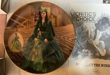 "Gone With the Wind ""The Green Drapery Dress"" Collector Plate Bradford Exchange"