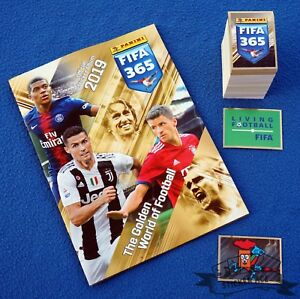 PANINI FIFA 365 2019, complete loose sticker set (+ S1 - S48) + empty album