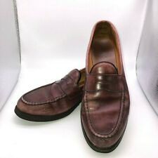 Allen Edmonds Men's Size 10.5 D Aberdeen Brown Leather Shoes Slip On Loafers