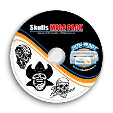 Skulls Clipart Vector Clip Art Vinyl Cutter Plotter Images Amp T Shirt Graphics Cd