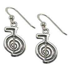 Sterling Silver Cho Ku Rei Reiki Earrings Attunement Empowerment Symbol Jewelry