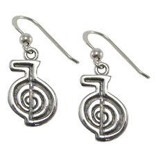 Sterling Silver Cho Ku Rei Reiki Earrings Attunement Empowerment Symbol Jewelry