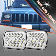 """7X6"""" Clear Glass Projector Headlights Conversion / 6000K LED H4 Bulb Fits Chevy"""