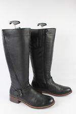 Stivali con fibbie Pelle leggermente Granulata Nero T 40 OTTIME CONDIZIONI