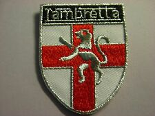 Lambretta England shield design iron on patch. Mods scooter Scooterists