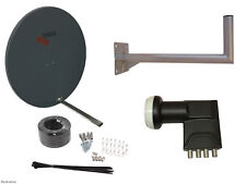 Triax TD110 Satellite Dish(110cm) With Wall Mount & Quad LNB/ Installation Kit