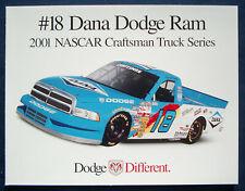 Prospekt brochure 2001 Dodge Ram Dana NASCAR Truck Series (USA)