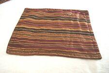 Brown, Gold, Rust Striped Chenille Standard Pillow Shams--2