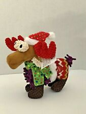 Christmas Reindeer Pet Colorful Holiday Dog Squeaky Toy New
