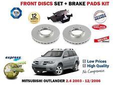 für Mitsubishi Outlander 2.4i 2003-2006 NEU BREMSSCHEIBEN VORNE+BELÄGE SATZ