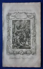 Original antique print TOBIT BUYING THE DEAD AT NINEVEH, Southwell's Bible, 1774