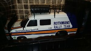 Ford Transit MK2 Rothmans Rally Team service van/barge 1/18th scale Ixo diecast