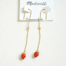 Madewell Strawberry Drop Earrings - Gold Plated Brass - NWT