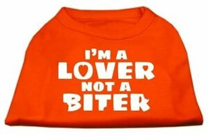 I'm a Lover not a Biter Screen Printed Dog Valentines Day Shirt