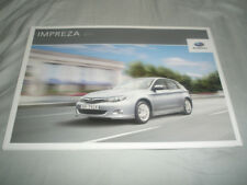 Subaru Impreza brochure 2011 UAE market Arabic & English text