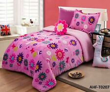 NEW WINTER COLLECTION FLOWERS LADYBUG CHIC GIRLS BLANKET WITH SHERPA 3 PCS TWIN