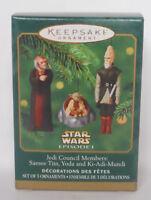 2000 Hallmark Keepsake Miniature Ornament Set Star Wars Jedi Council-QXI6744