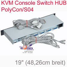 KVM POLYCON/S04 KVM CONSOLE SWITCH HUB BIS ZU 4 SERVER