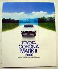 Catalogue TOYOTA CORONA MARK II - 2000
