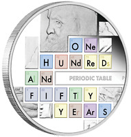 2019 150TH ANNIVERSARY OF THE PERIODIC TABLE 1oz 99.99% SILVER PROOF COIN