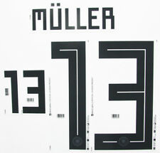 Muller 13 - 2018 World Cup Name Block For Germany Home = Adult Size