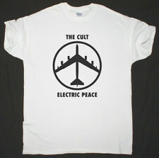 THE CULT ELECTRIC PEACE GOTHIC ROCK POST PUNK NEW WHITE T SHIRT