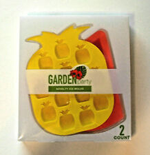 ICE CUBE MOLDS Set Pineapple & Watermelon Shaped Ice Trays ~ NEW in Package!