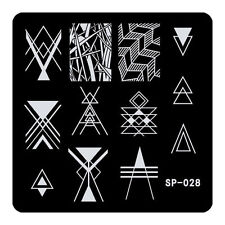 Equilateral triangle Nail Art Stamping Template Angle Designed Metal Plate SP28
