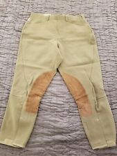 Tailored Sportsman Breeches Green-Beige Size Zip 30