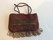 Art Deco Purse Bag, Egyptian Revival Beaded.