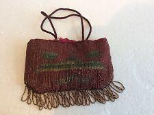 Art Deco Purse Bag, Egyptian Revival Beaded.